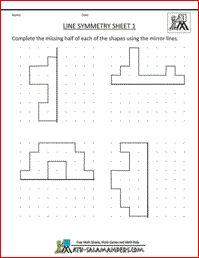 Line Symmetry Worksheets, symmetry activities 3rd grade