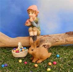 Easter in the miniature fairy garden.