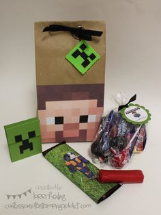 "Brady's ""Minecraft"" Birthday! :: Confessions of a Stamping Addict"