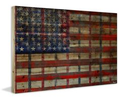 Striped Flag Painting Print