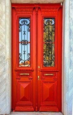 Door 2 (Athens_Greece) by Violeta Meleti / Door Entryway, Entrance Doors, Doorway, Amazing Architecture, Architecture Design, Cool Doors, Antique Doors, House Doors, Painted Doors