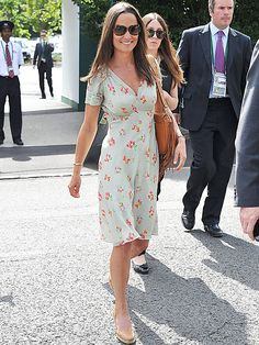 Pippa Middleton Brings Her Sartorial Skills to Wimbledon in Flirty Floral Dress http://stylenews.peoplestylewatch.com/2015/07/06/pippa-middleton-wimbledon-dress/