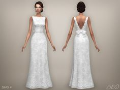 Lana CC Finds - Wedding dress - Ellie (S4) by BEO