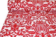 Tonic Living: Designer Fabric, Throw Pillows, Home Decor Futon Covers, Mattress Covers, Futon Mattress, Curtain Fabric, Red Curtains, Bedroom Curtains, Retro Fabric, Gorgeous Fabrics, Kitchen Curtains