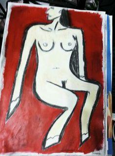 BRUNA BELEM by Caranguexo, 2014, acrylic on coachoal on paper A4