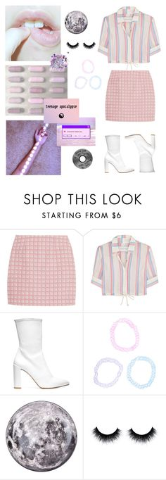 """Pastel Gothic"" by blah-blah-blah-black ❤ liked on Polyvore featuring Alexander Lewis, Solid & Striped, Stuart Weitzman, Hot Topic, Seletti, The Gypsy Shrine, pastel, gothic, pastelgothic and asthetically"