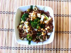 Buckwheat with broccoli and chickpeas. Best salad!