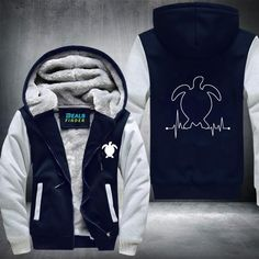 Turtle Fleece Jacket Time Goes Back, Aloha Beaches, Heather White, Hand Warmers, Cool Designs, It Cast, In This Moment, Zipper, Hoodies