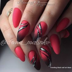 Rot Schwarz Nail Art # Thumbnail Design Haare Schwarz The Effective Pictures We Offer You About gel nails A quality pictu Black Nail Designs, Simple Nail Art Designs, Cute Nail Designs, Pedicure Designs, Red Black Nails, Black Nail Art, Black Hair, Hot Nails, Hair And Nails