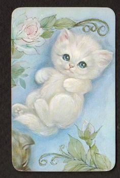Vintage  Lovely Kitten