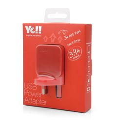 UA5343B in Red @ Ye!! #UA5343 #USB #adapter #charger #red
