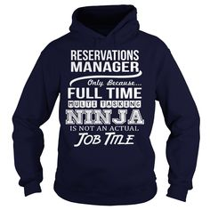 (Top Tshirt Fashion) Awesome Tee For Reservations Manager [Hot Discount Today] Hoodies Tee Shirts