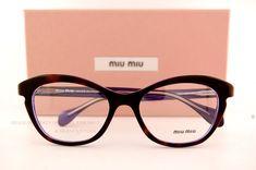 Brand New Miu Miu Eyeglass Frames MU 07L 07LV SL61O1 HAVANA Women 100% AUTHENTIC #MiuMiu #EyeglassFrames