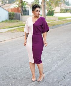 EASY FLATTERING PULLOVER DRESS: STEP-BY-STEP VIDEO TUTORIAL Flattering Dresses, Plus Size Maxi Dresses, Dresses For Work, Dresses With Sleeves, Women's Dresses, Plus Size Womens Clothing, Plus Size Fashion, Clothes For Women, Curvy Fashion