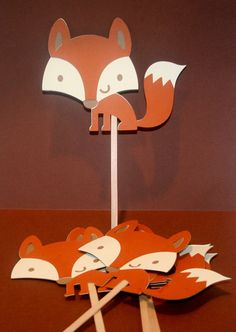 woodland fox party favors, table decoration for Birthday Party