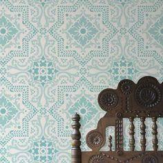 Allover Wall Stencil | Lisboa Tile Stencil | Royal Design Studio Stencils