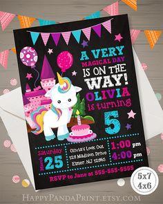 Unicorn Invitation Unicorn Birthday Invitation Unicorn Party