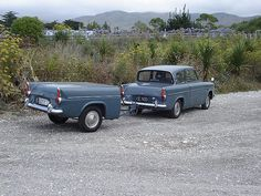 Ford Anglia Ford Motor Company, Vintage Cars, Antique Cars, Ford Anglia, Trailer Build, Morris Minor, Vintage Caravans, Old Fords, How To Make Tea