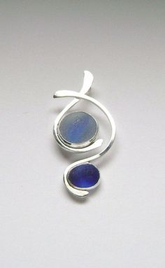 Sea Glass Jewelry  Sterling Half Marble & English Multi Sea