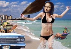 Mona Lisa at Daytona Beach by Barry Kite