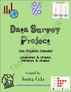 Class Survey Data Project (Two Versions for Differentiation)  from Cole's Hot Spot for Great Activities on TeachersNotebook.com -  (15 pages)