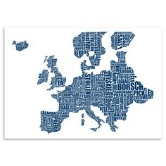 ACHICA | Lucy Loves This - Europe Gastronomy Map, Digital Print, 60 x 42 cm