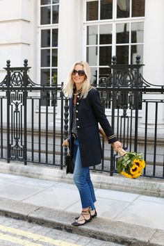 the stylist and the wardrobe, and military style coats