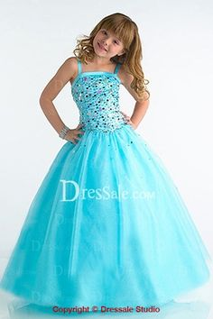 Glittering Sequins Embellished Flower Girl Dress