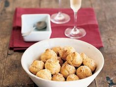 Salt-and-Pepper Cheese Puffs (Gougères)