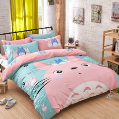 High quality Bedding sets cat Sheet Set Duvet Cover Bedding Reactive Printing Bedding sets, Boys and Girls Bedding Set Twin(3Pcs)/Full Size(4Pcs), it's only sale 55-59$.
