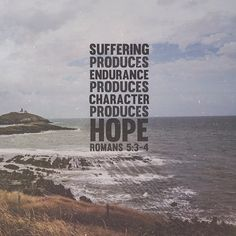 Inspirational and comforting Bible verses. These Scripture verses, set in gorgeous typography over beautiful images, provide hope and comfort from God's Word. Alesund, Romans 5 3 4, Romans Bible, Comforting Bible Verses, Between Two Worlds, In Christ Alone, Favorite Bible Verses, Favorite Quotes, All Nature