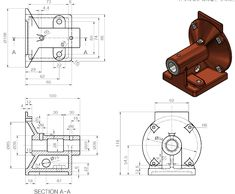 Autocad 3d Modeling, Solidworks Tutorial, Circular Pattern, Engineering, Tutorials, Tech, Illustrations, Learning, Drawings