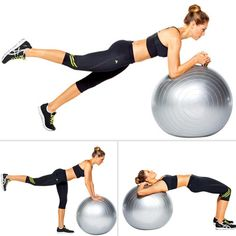 Gained a little around the bum during your vacation or the holidays?  I did!  Here are some easy moves to firm up through the rest of winter.   Firm Your Butt in 6 Moves Hygiene De Vie, Stability Ball, Workout Guide, Workout Plans, Workout Board, Six Pack Abs Workout, Stay In Shape, Excercise, Exercise Ball