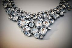 Fun Sparkles!! Bridal Statement Necklace  Antique Silver with by bridalized, $149.00