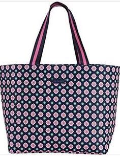 efaf723f1f Vera Bradley Large Family Tote NWT Petal Dots - Great Shopping beach Bag