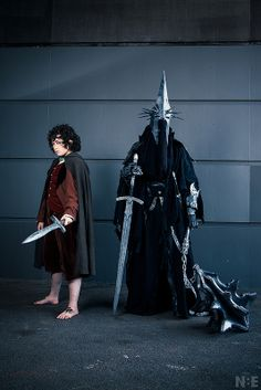 Frodo and Witch-king of Angmar (LOTR)