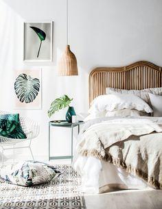 sunny neutral bedroom
