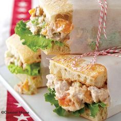 Gooseberry Patch Recipes: Apricot-Cashew Salad Sandwiches from Everyday Simple Suppers. Great as a wrap too!