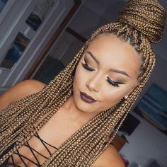 Pretty @makeupbybrittanyantonio - http://community.blackhairinformation.com/hairstyle-gallery/braids-twists/pretty-makeupbybrittanyantonio/