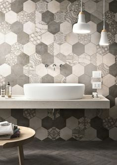 Clays Marazzi, Wall Tiles, Patterned Hexagonal Tiles @MaterialPlans