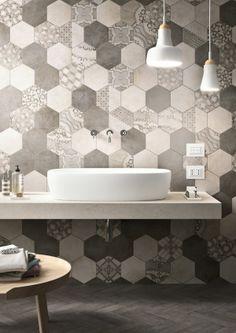 Clays Marazzi, Wall Tiles, Patterned Hexagonal Tiles @MaterialPlans