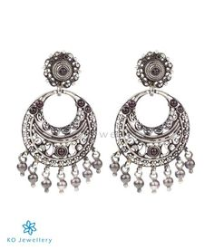 The Silver Chand Bali Earrings(Oxidised)