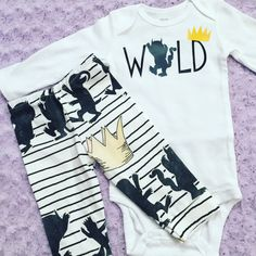 Hey, I found this really awesome Etsy listing at https://www.etsy.com/listing/265655516/wild-one-where-the-wild-things-are-baby