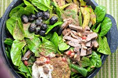 Leftover Duck & Spinach Salad - quick and easy to make and bursting with flavour!