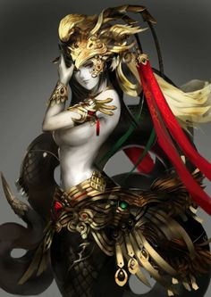 Want to discover art related to lamia? Check out inspiring examples of lamia artwork on DeviantArt, and get inspired by our community of talented artists. 3d Fantasy, Fantasy Warrior, Fantasy Women, Fantasy Girl, Fantasy Artwork, Dark Fantasy, Warrior Girl, Mythological Creatures, Fantasy Creatures