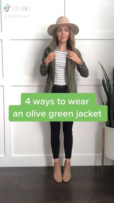 Olive Jacket Outfit, Utility Jacket Outfit, Outfits With Green Jacket, Khaki Jacket, Casual Winter Outfits, Classic Outfits, Cute Outfits, Outfit Winter, Looks Rock