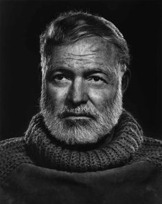 Yousuf Karsh portrait of Ernest Hemmingway.  One of the best portraits I've ever seen. Absolutely stunning tones and lighting.