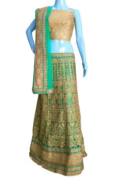 #BuyNow Green Heavy Zari Diamond Work #Wedding Semi-Stitch #LehengaCholi With Blouse only at Lalgulal.com. #Price :- 6,822/- inr. To #Order :- http://goo.gl/3nEYI7 To Order you Call or #Whatsapp us on +91-95121-50402 COD & Free Shipping Available only in India.