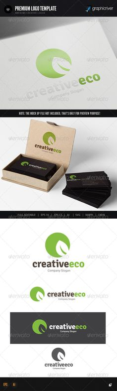 Eco Creative — Vector EPS #life #ecology • Available here → https://graphicriver.net/item/eco-creative/8181875?ref=pxcr