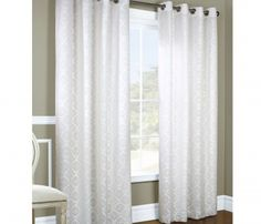 White blackout curtains for better control | Drapery Room Ideas